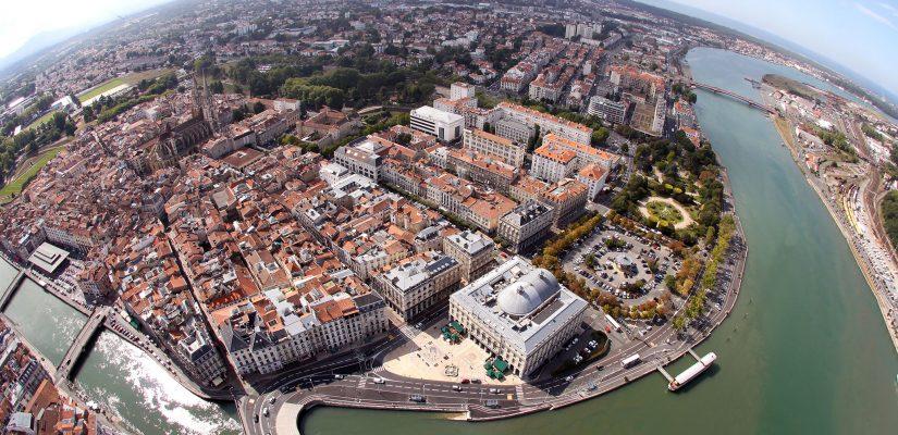 Vue Aérienne de Bayonne / Adour et Nice