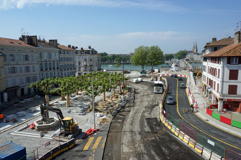 Les travaux à Bayonne / ©Balloïde