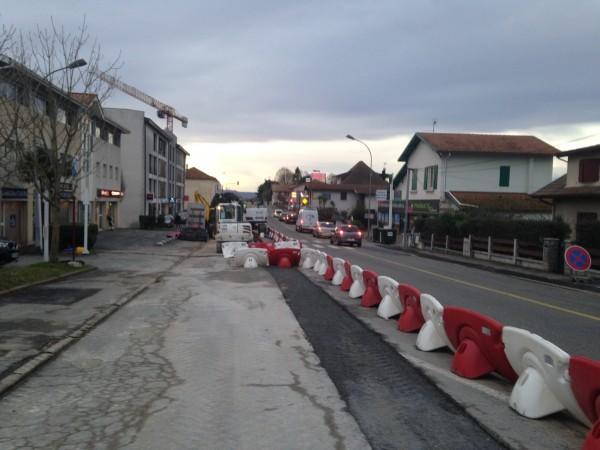 Tarnos: Les travaux du Tram'bus intensifient en centre-ville